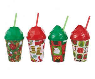 Christmas Cup+Straw